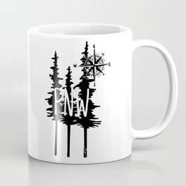 PNW Trees & Compass Coffee Mug