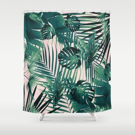 Tropical Jungle Leaves Siesta #2 #tropical #decor #art #society6 Shower Curtain
