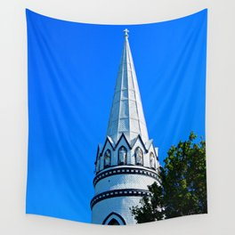 Church Steeple Statues Wall Tapestry