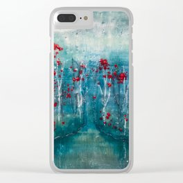 Red Flower Marsh Clear iPhone Case