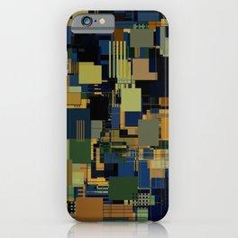 Random Abstract Shape Pattern iPhone Case