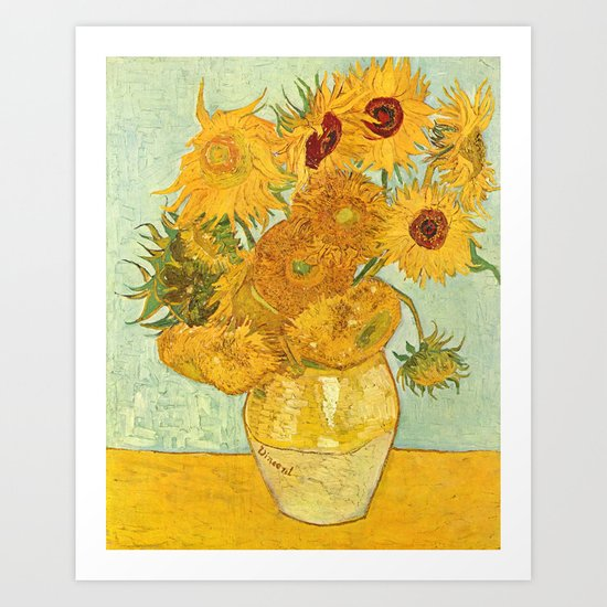 Vincent Van Gogh Sunflowers Vintage Painting by historystuff