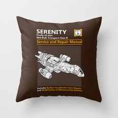Serenity Service and Repair Manual Throw Pillow