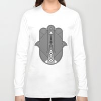 hamsa Long Sleeve T-shirts featuring hamsa  by Leandro Pita