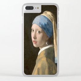 Girl with a Pearl Earring (1665), Old Masters Collection Clear iPhone Case