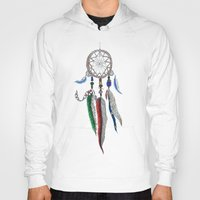 dreamcatcher Hoodies featuring Dreamcatcher by Ina Spasova puzzle