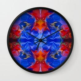 Blue Beginnings Abstract Pattern Artwork  Wall Clock