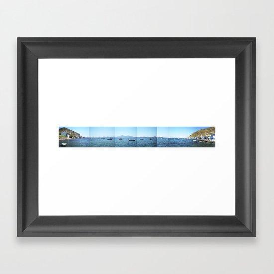 Milos island, Greece Framed Art Print