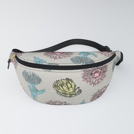 Pattern, Protea flower from Africa Fanny Pack
