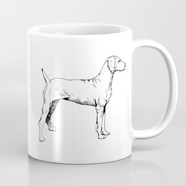 Viszla Dog Ink Drawing Coffee Mug