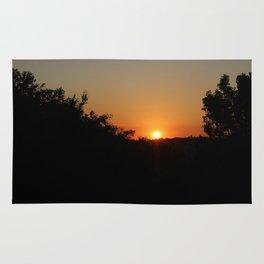 pôr do sol Rug