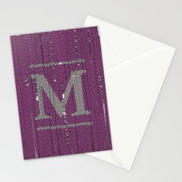 Winter clothes II. Letter M Stationery Cards