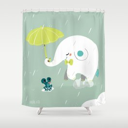 Rainy Elephant Shower Curtain