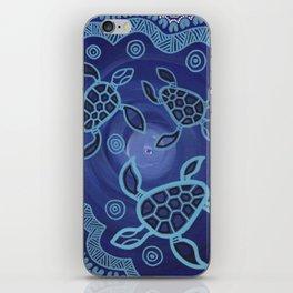 Aboriginal Art Authentic - Sea Turtles iPhone Skin
