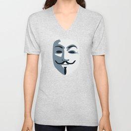 Anonymous Mask #society6 #decor #buyart #artprint Unisex V-Neck