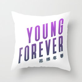 BTS ! Young Forever Throw Pillow