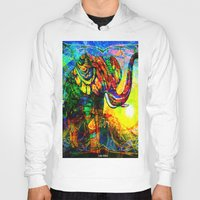 "andreas preis Hoodies featuring "" The old elephant knows where to find some water. "" by shiva camille"