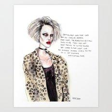 Sally Fan Art  Art Print