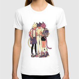 3 cats and a fish T-shirt