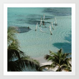 Hammocks in the Caribbean Art Print