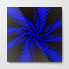 Checkers in Blue.... Metal Print