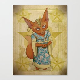 Bohemian Beasts: Fox Canvas Print
