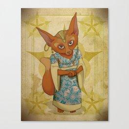 Bohemian Beasts: Fox Canvas Print
