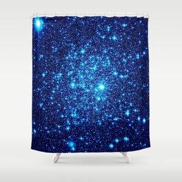 Vivid Blue gALaxY Stars Shower Curtain