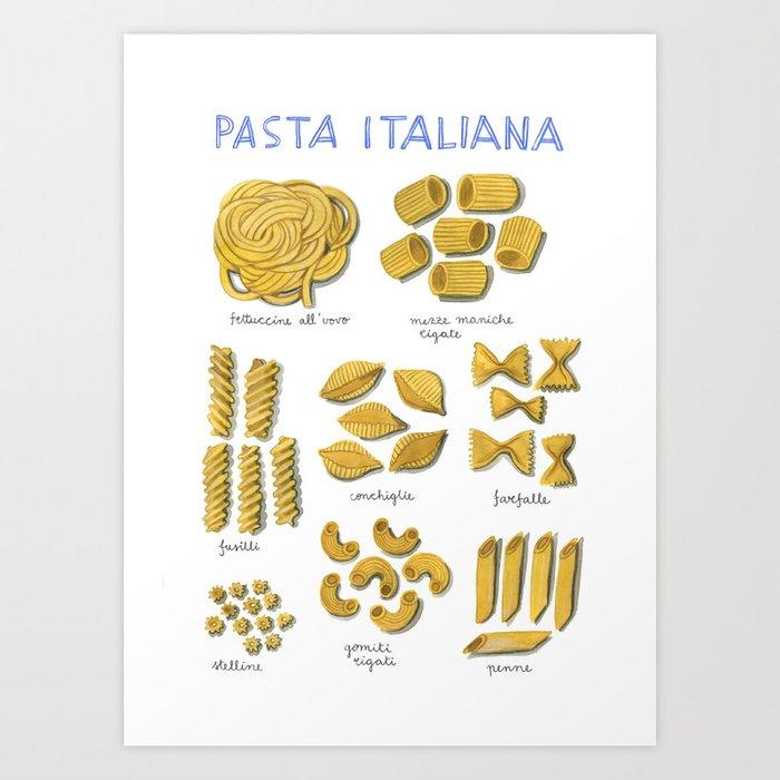 pasta italiana Art Print
