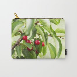 Red juicy ripe cherries on a branch Carry-All Pouch