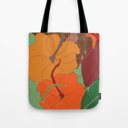 Pumpkin and leaves Tote Bag