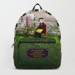 Sir Langford Labrador While Plein Air Painting Backpack