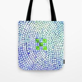 artisan 22.06.16 in lime & shades of blue Tote Bag