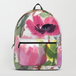 Pink Poppy Graphic Backpack