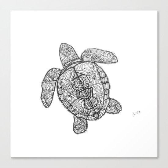 Sharpie Turtle Canvas Print