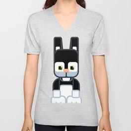Black Bunny Rabbit - Super Cute Animals Unisex V-Neck