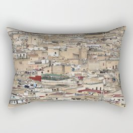 Skyline Roofs of Fes Marocco Rectangular Pillow