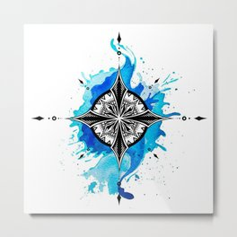 blue compass special design Metal Print