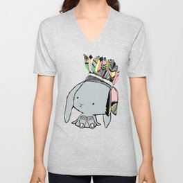 Indian Bunnie Unisex V-Neck