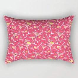 Pink Martinis Rectangular Pillow