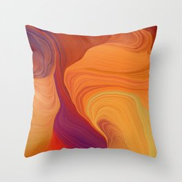 abstract curves and waves art Throw Pillow