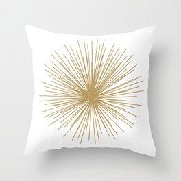 Gold Sputnik Orb Throw Pillow