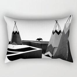 Cabins in BW Rectangular Pillow