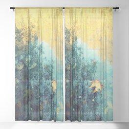 fallen Sheer Curtain