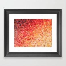 SAILOR'S SUNRISE - Beautiful Modern Abstract Crimson and Pink Nature Sky Sunset Ocean Reflection Framed Art Print