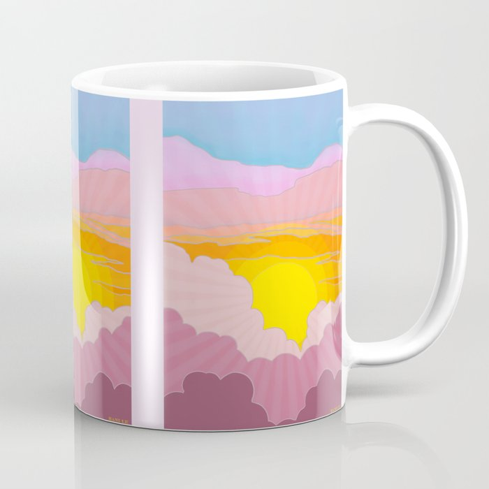 Sixties Inspired Psychedelic Sunrise Surprise Coffee Mug