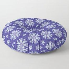 Frozen Snow Flakes Floor Pillow