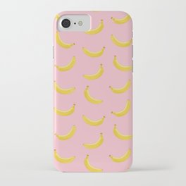 Banana in pink iPhone Case