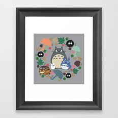 Troll Wreath Framed Art Print