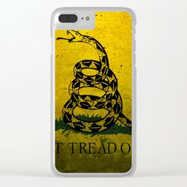 Don't Tread On Me Clear iPhone Case